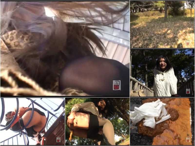 JG-068 Amateur Girls Scat Vlogs Series. Outdoor Enema!