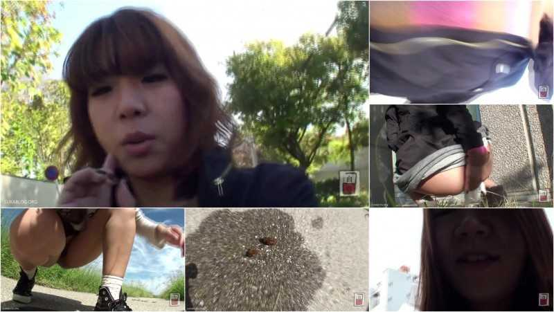 JG-130 Amateur Girls Scat Vlogs. Outdoor Defecation! VOL.9