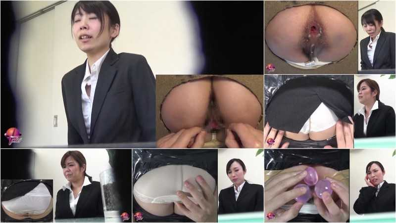PP-143 | Shameful scat interview. Enema, fingering, defecation and pantypoop thru the secret hole.