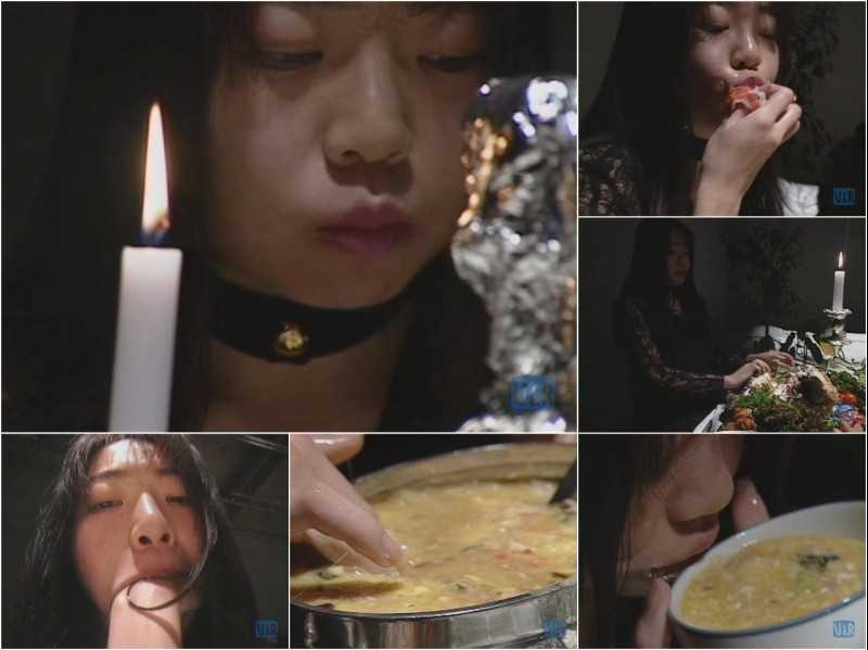SAS-012 | Vomit dinner. Classic Japanese puking movie with woman eating her own vomit.