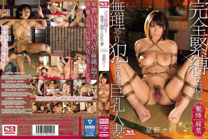 [SNIS-616] 完全緊縛されて無理やり犯された巨乳人妻 星野ナミ Torture Married Woman 縛り Nami Hoshino Cowgirl [Jo]Style 684 MB